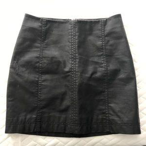 Free people pleather skirt